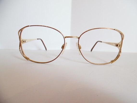 bd16f1c895 Vintage MARCHON TRES JOLIE 5 Eyeglasses Designer Gold Frame