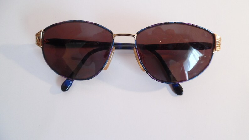 Vintage F.A.D. 3009 Eyeglasses Designer Gold Falled Used Frame made in Italy