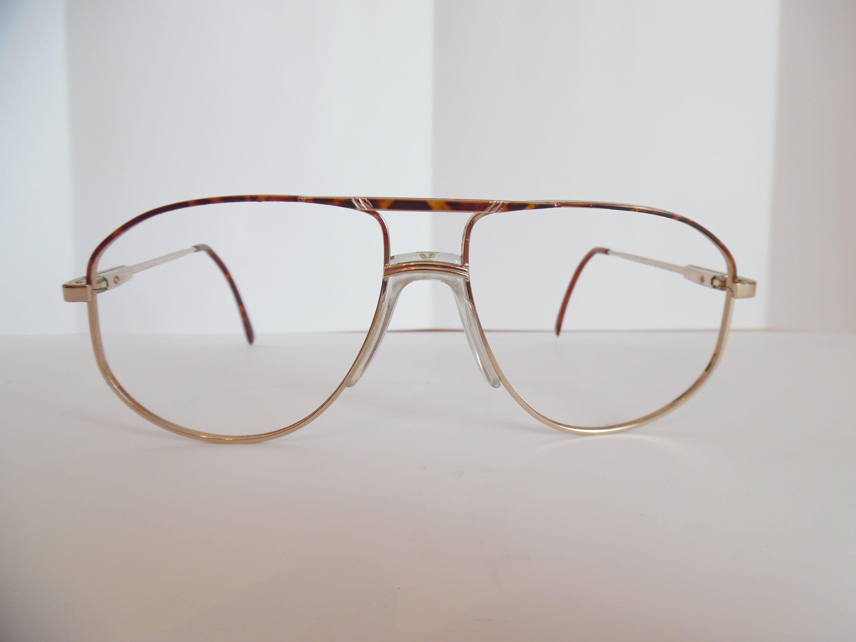 Vintage Gold randlose Aviator Brillen Rahmen Brille | Etsy