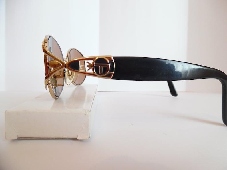 f004cfece443 Vintage Sergio Tacchini Eyeglasses Designer Gold Eyewear Made