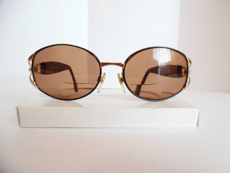 b1c732d0841 Vintage Sergio Tacchini Eyeglasses Designer Gold Eyewear Made