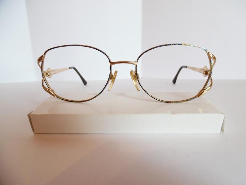 Vintage Luxottica 2184 G672 GEP Eyeglasses Designer Gold Used Frame Made in  ITALY
