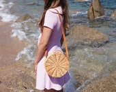 Cute Unique Stylish, Round Wicker Bag, Beach Bag, Wicker Basket, Tote Bag for Summer, Summer Must Have, Straw Bag,Handwoven,Shoulder Bag