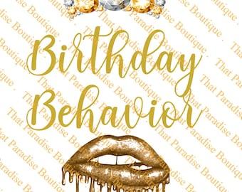 Birthday Behavior Svg Etsy