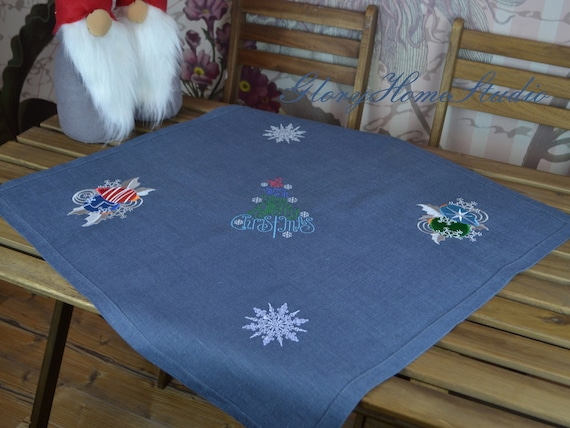 Embroidery Estonian Folk Flowers Natural European linen fabric Poppies Ready to shipping. Cornflowers and Wheat