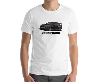 Subaru wrx sti impreza gc8 jdm all wheel drive rally car 4x4 tshirt