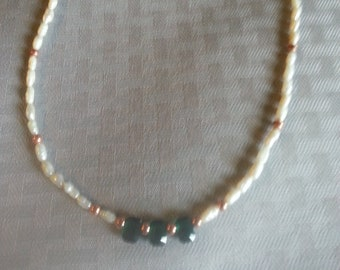 Freshwater pearl, Swarovski crystal