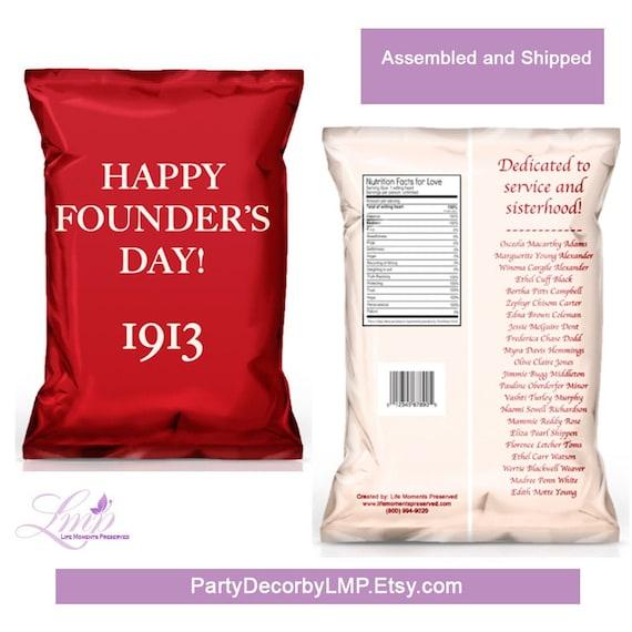 Sorority Favors Sisterhood Theme Chip Bags Favor Bags Sisterhood Favors Printable Sorority Chip Bags Sorority Gifts Treat Bags