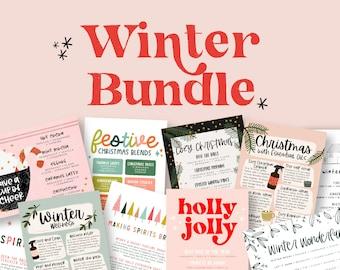 Winter Collection 2020   Bundle Postcards, Labels, Christmas Diffuser Blends, Recipes   Download + Print