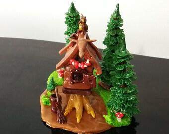 A miniature tree huse