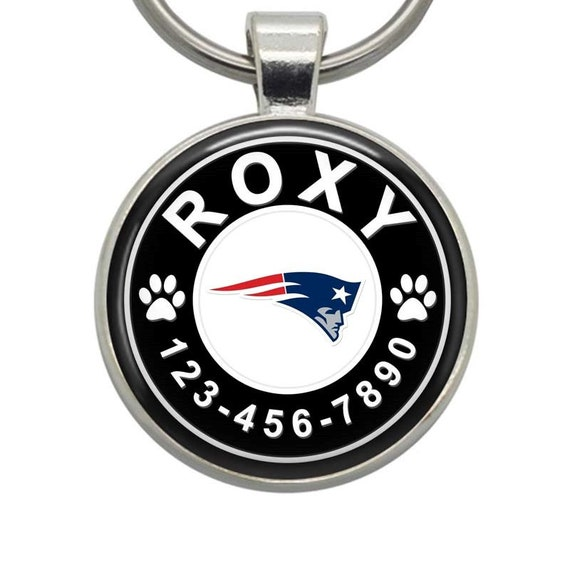 New England Patriots Pet Id Tag for Dogs /& Cats Personalized w// Name /& Number