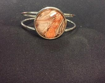 Acrylic Pour Bracelet. One of a kind.