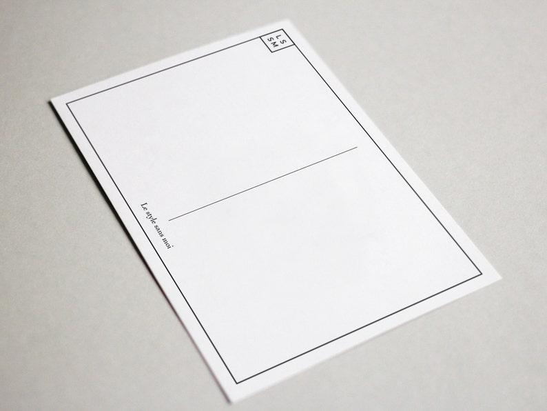 Postcard gift Le style sans moi card C/'est pas un temps \u00e0 visi\u00e8re