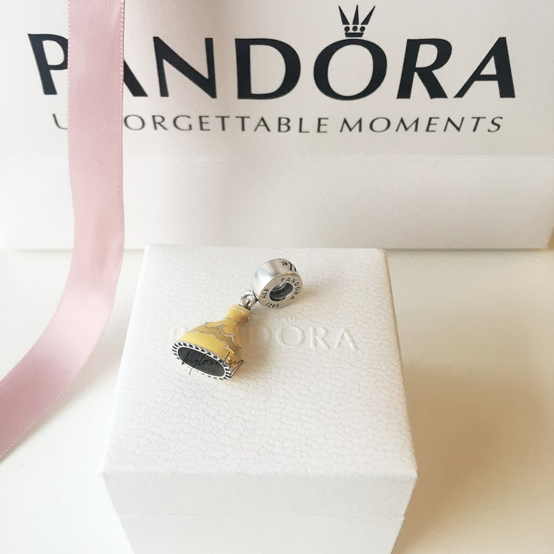 fcf155b3c Belle Charm Pandora Charm Valentines Day Disney Pandora | Etsy