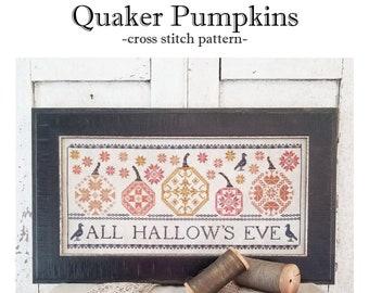 PDF- Quaker Pumpkins cross stitch pattern