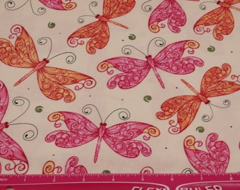Butterfly Fabric, Fabric by the Yard, QT Fabrics, Cotton Fabric, Quilting Fabric