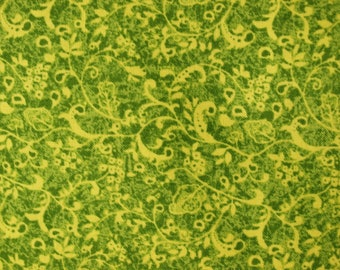 Green Leaves, Quilting Fabric, Fabric by the Yard, Paintbrush Studio, Cotton Fabric