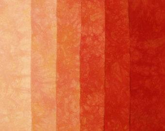 Red Orange Hand Dyed Fabric, Robert Kaufman Pimatex, Quilting Cotton
