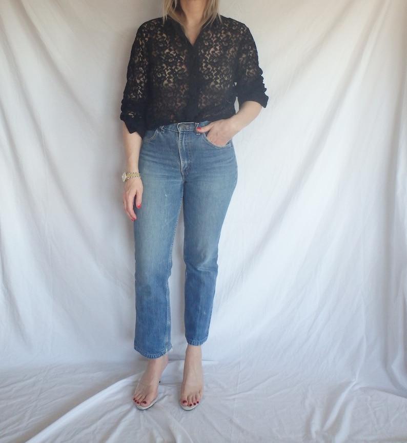 Womens Clothing Vintage Black Lace Long Sleeve