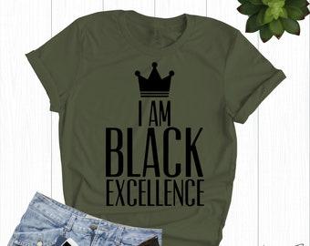 063c3a6e I Am Black Excellence | Black History Month - Black Lives Matter - Black  Girl Magic - Black Pride Tank - Black Power Shirt - Afro Shirt