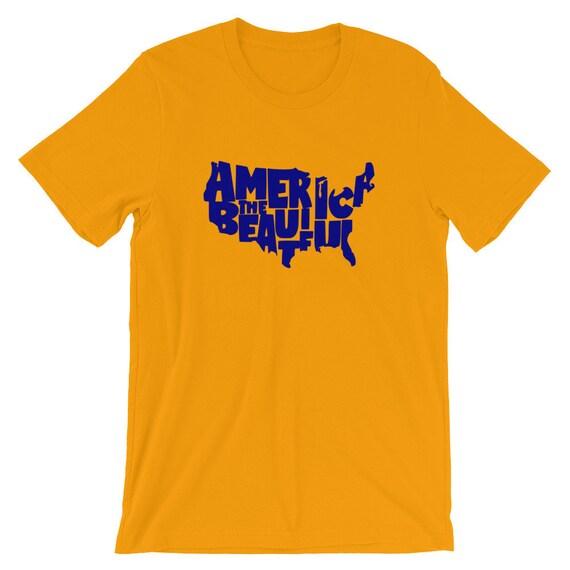 Amérique le beau T-Shirt / patriotique chemise / American monde Pride chemise / Amérique monde American Cloud T-Shirt / T-Shirt unisexe / habillement / Tees 78df2a