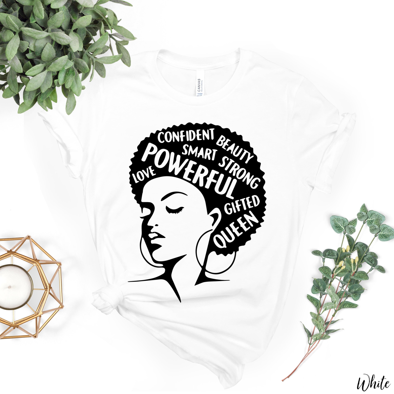 6b2cb54d Afro Lady Shirt Inspiring Words Black Lives Matter Women | Etsy