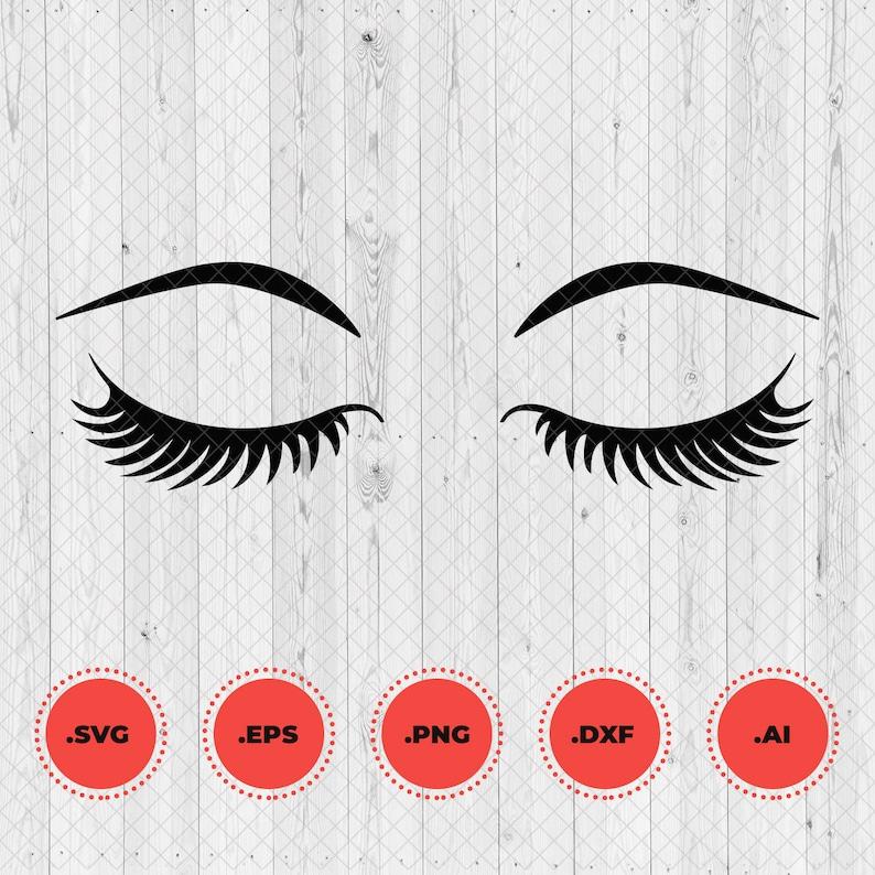 Eyelashes lashes fashion makeup svg. Eyes beauty DXF PNG ...