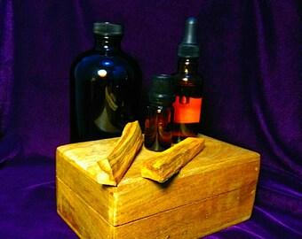 Palo Santo essential oil. Bursera Graveolens. Wildcrafted. Artisan Distilled. Ecuador.