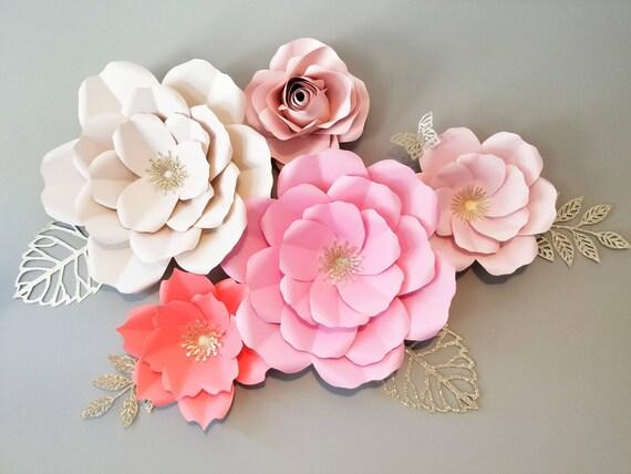 Paper Flower Backdrop Paper Flower Wall Art Nursery Wall | Etsy