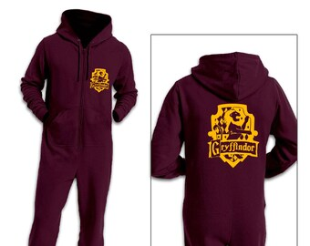 Gryffindor House Onesie All In One -  Inspired by Harry Potter and Fantastic Beasts
