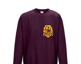 Gryffindor House Sweatshirt Burgundy, gift for him, gift for her, christmas, halloween, present