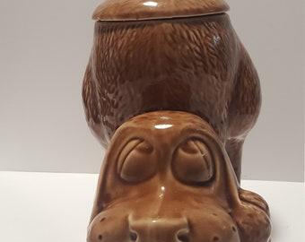 Vintage McCoy brown dog cookie jar
