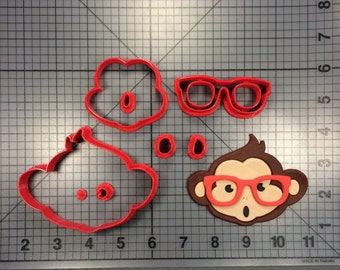 Biscuit Mold Monkey with glasses Cookie Cutter Cookie Cutter For Kid Pastry cutter Bake supply Baking Supply 3D printed Animal Cutter