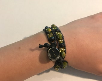 Green and Black Double Wrap