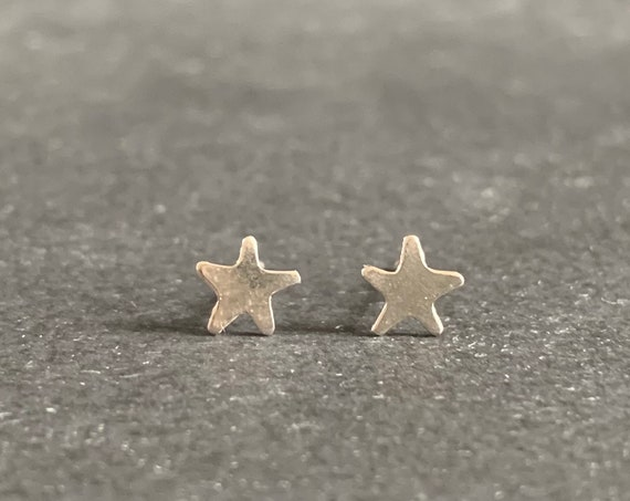 Sterling Silver Twinkling Star Stud Earrings