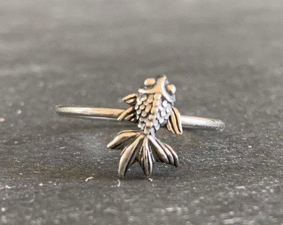 Sterling Silver Koi Fish Ring