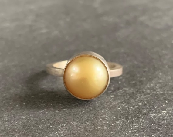 Sterling Silver and Freshwater Pearl Ring