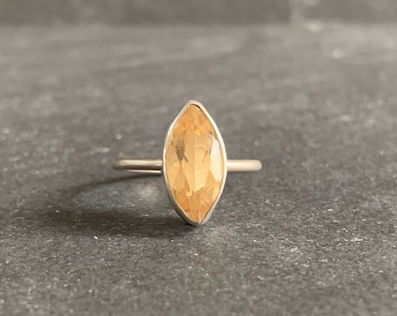 Sterling Silver and Natural Citrine Ring
