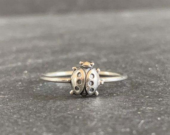 Sterling Silver Ladybug Ring