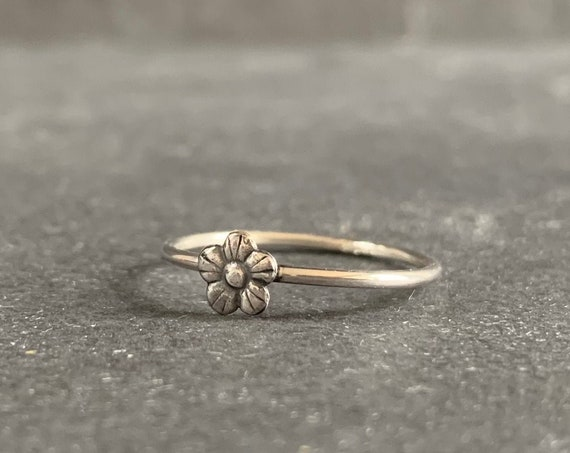 Sterling Silver Buttercup Flower Ring