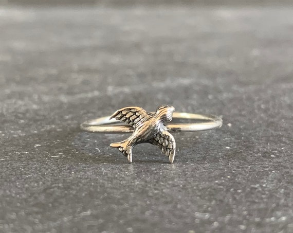 Sterling Silver Swallow Ring