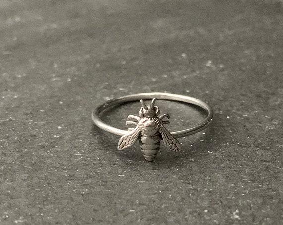 Sterling Silver Honeybee  Ring