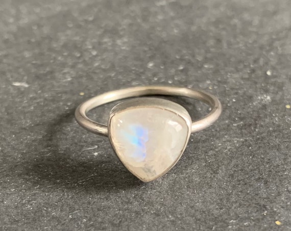 Sterling Silver and Natural Moonstone Ring