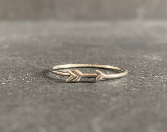 Sterling Silver Arrow Stacking Ring