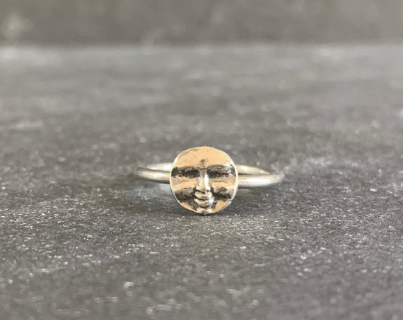 Sterling Silver Man In The Moon Ring