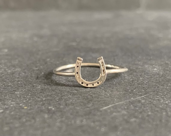 Sterling Silver Lucky Horseshoe Ring