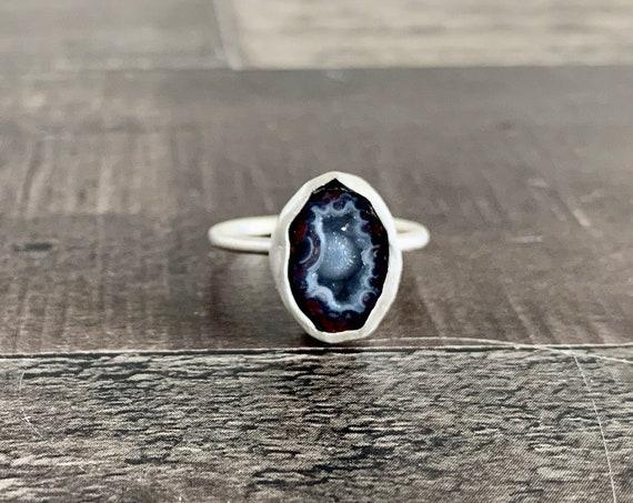 Mini Tabasco Geode Druzy Ring