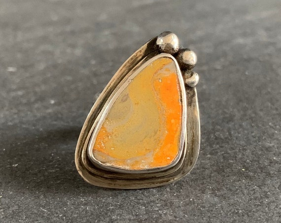Sterling Silver Bumble Bee Jasper Ring