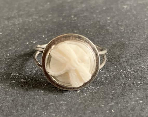 Custom Made Sterling Silver Buffalo Bone Dragonfly Ring