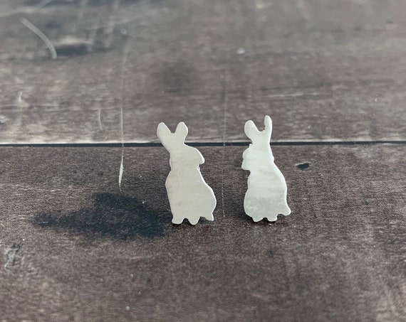 Sterling Silver Baby Bunny Stud Earrings